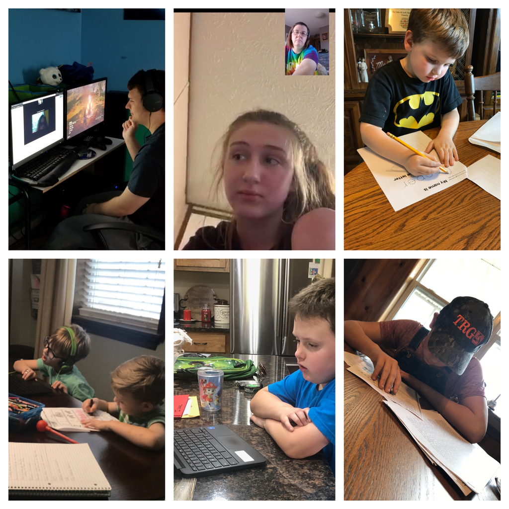 Mt. Judea students working at home and staff reaching out